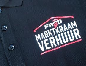Polo bedrukking Fred Marktkraamverhuur